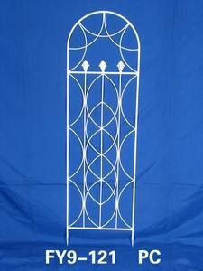 Home Decoration Garden Decor White Wrought Iron Trellis