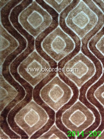 Polyester Shaggy Carpet with Design or Plain color