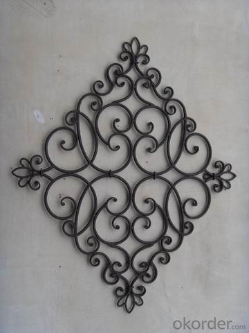 Hot Selling New Design Iron Craft Rhombus Wall Art Decoration
