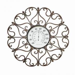 Antique Home Decor Metal Round Wall Art With Clock