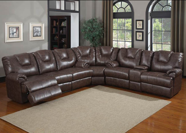 CORLORFUL 6 SEATER RECLINER SOFA