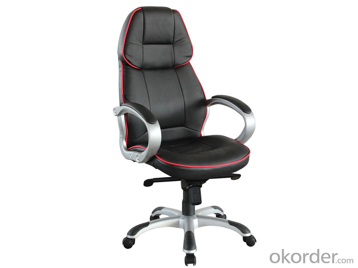 New Design Hot Selling Full Black Half PU High Quality Office Chair