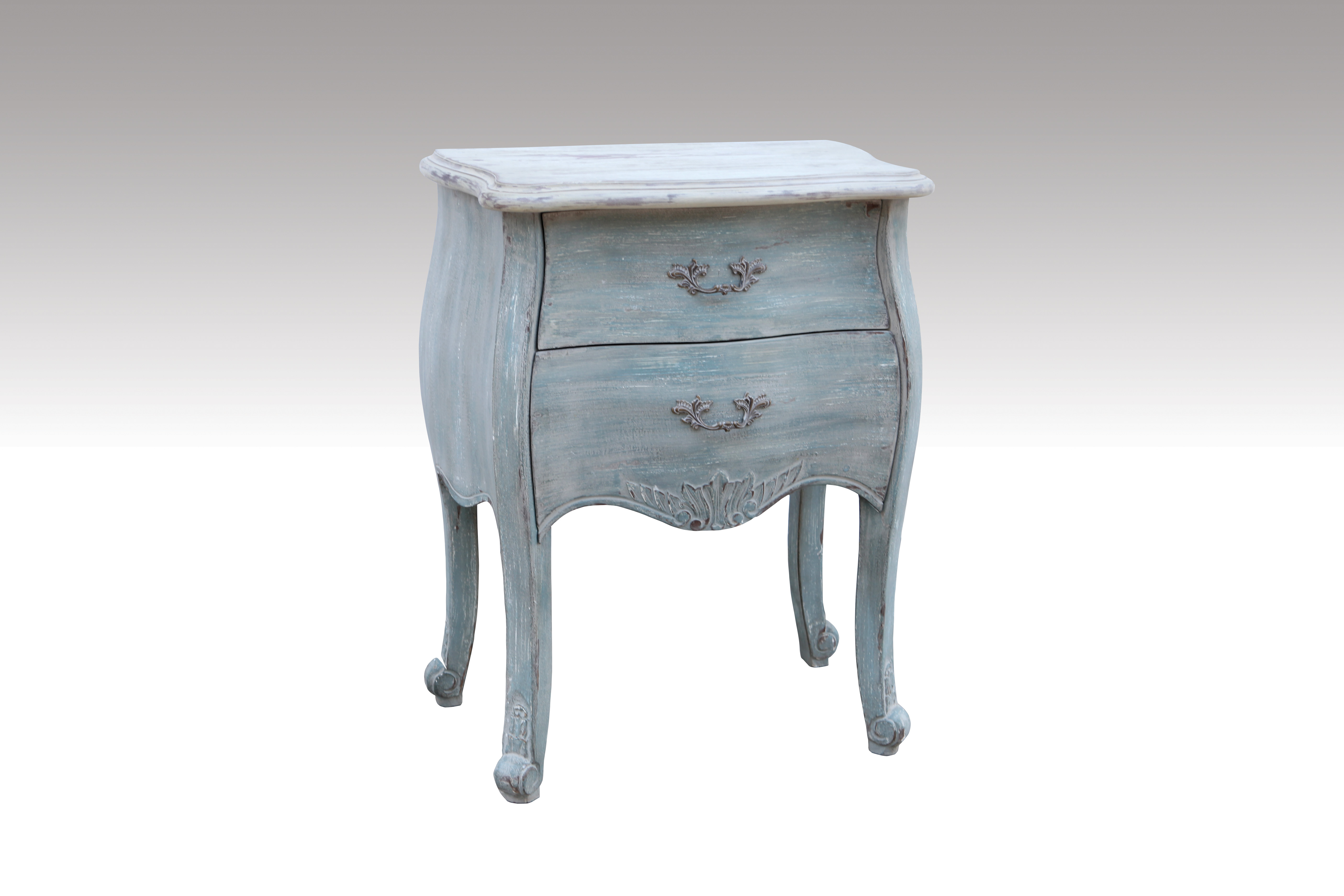 Home Furniture Classical 2 Drawer Chest Waterpaint MDF/Solid Wood/Veneer