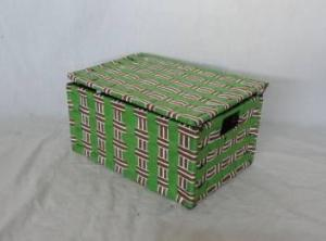 Home Storage Willow Basket Foldable Flat Paper Woven Metal Tube Basket
