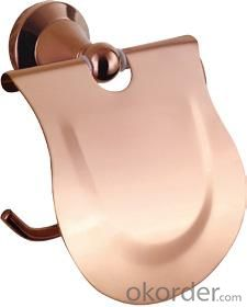 Hardware House Bathroom Accessories Rose Gold Series Roll Holder With Cover