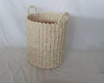 Home Storage Hot Sell Soft Woven Natural Maize Hamper