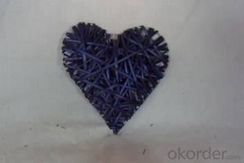 Home Decor Hot Selling Stained Blue Willow-Woven Heart Deco