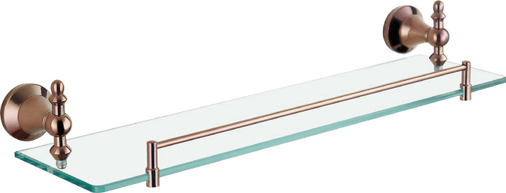 Hardware House Bathroom Accessories Rose Gold Series Glass Shelf