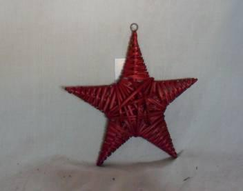 Home Decor Hot Selling Stained Red Willow-Woven Star Deco