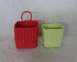 Home Storage Hot Sell Soft Woven Paper Rope Red And Green Box S/2