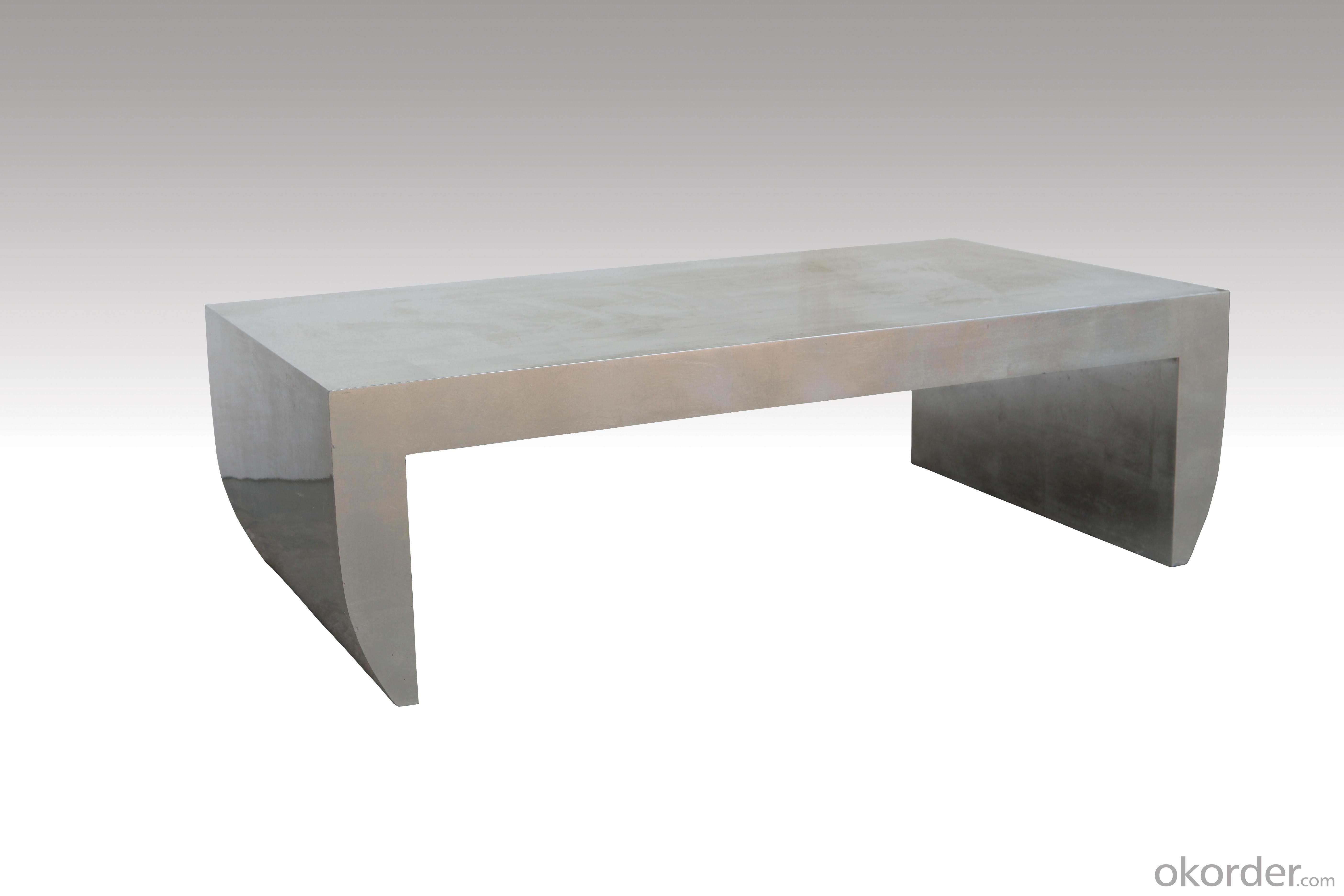 Home Furniture Classical Square Table PU High Gloss MDF And Birch Solid