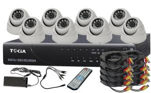 8CH Home Security System DVR KITS with 8pcs IR Dome Cameras S-15