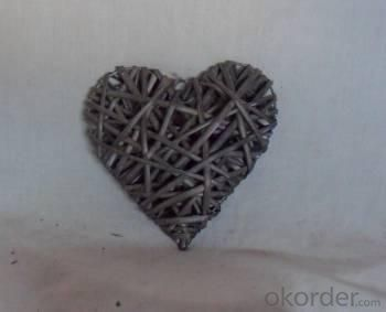 Home Decor Hot Selling Washed-Grey Willow -Woven Heart Deco