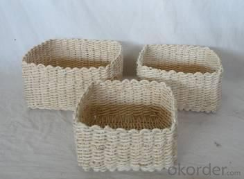 Home Storage Hot Sell Soft Woven Natural Maize Box S/3