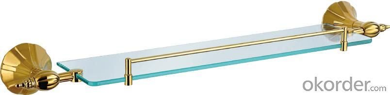 Hardware House Bathroom Accessories Rome Series Titanium Gold Glass Shelf