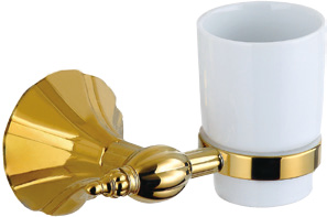Hardware House Bathroom Accessories Rome Series Titanium Gold Tumbler Holder
