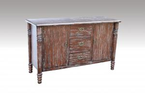 Home Furniture Classical Retro Colors 3 Drawer Chest And 2 Doors Nature Painting