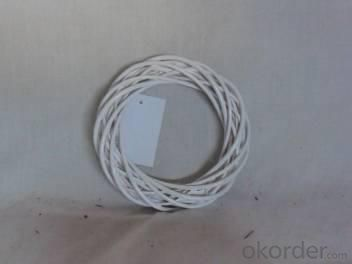 Home Decor Hot Selling White-Painting Willow-Woven Round Shape Deco