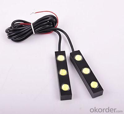 Auto Lighting System DC 12V 0.35A 1W Blue CM-DAY-011