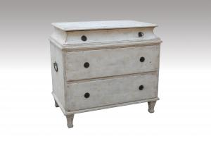Home Furniture Classical Antique 3 Drawer Chest white Pine Solid Wood