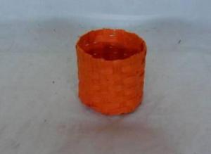Home Storage Willow Basket Soft Woven Flat Paper Orange Oval Box