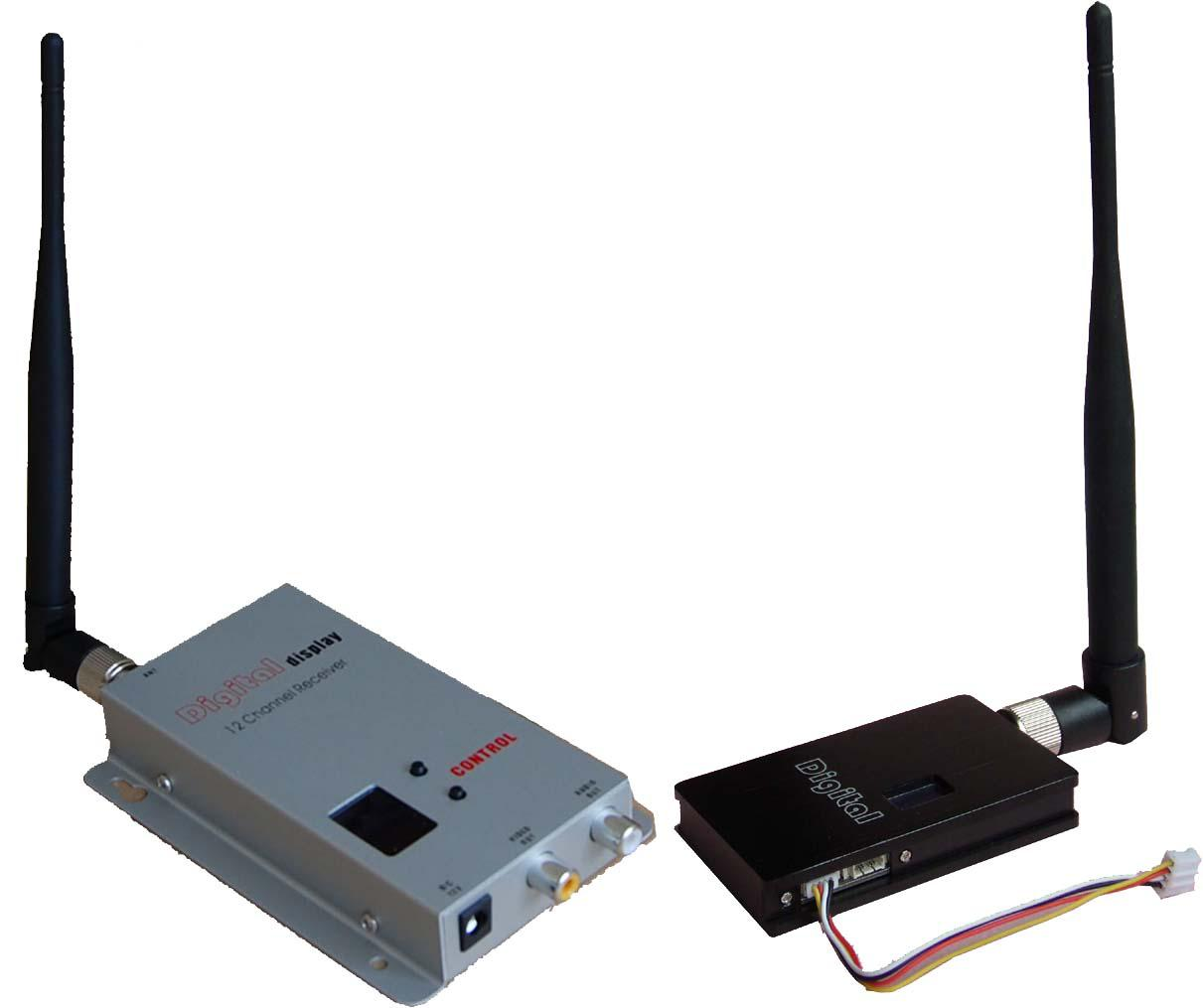 Wireless Transmitter and Receiver for  8CH 1500mW
