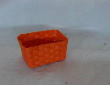 Home Storage Willow Basket Soft Woven Flat Paper Orange Squal Box