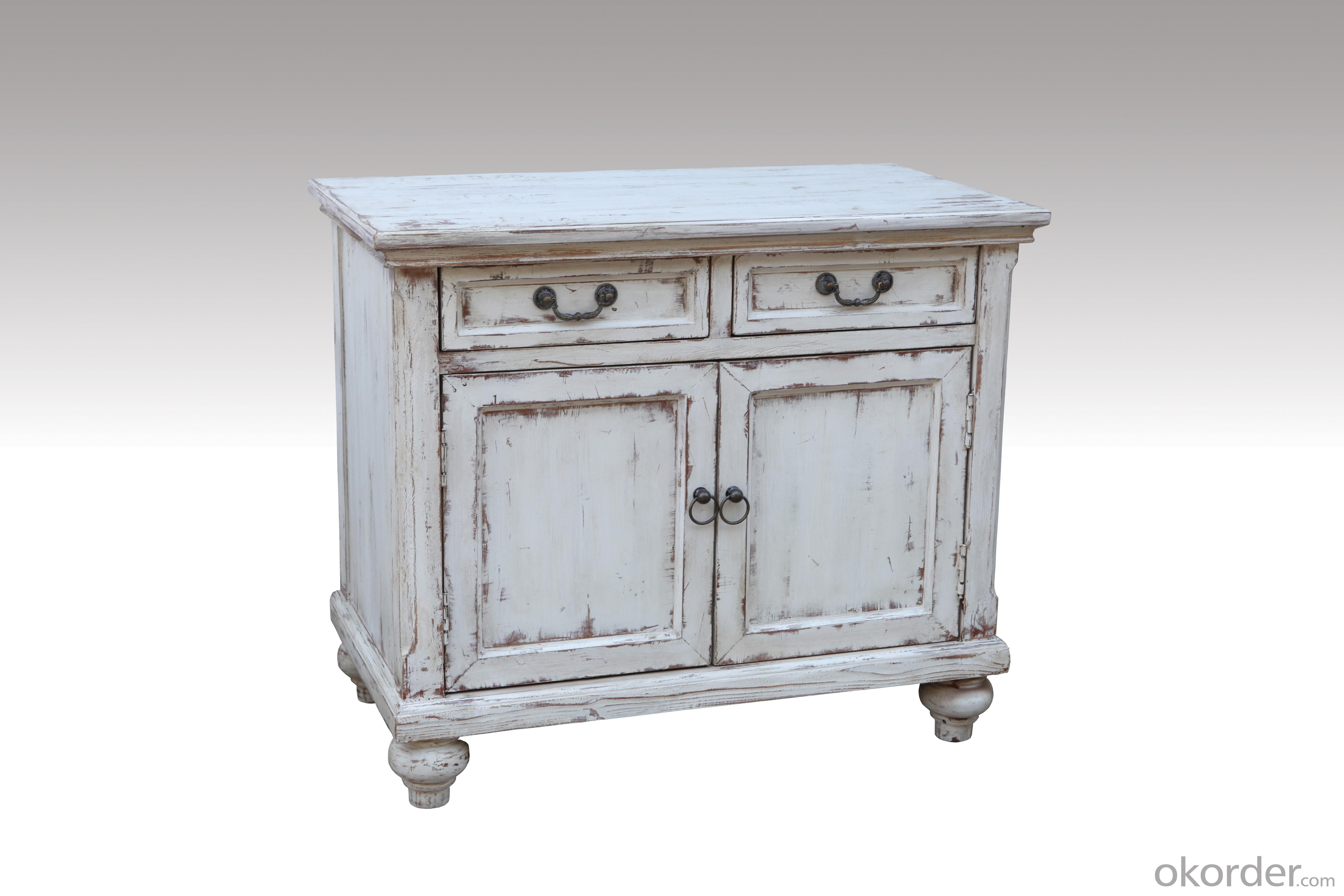 Home Furniture Classical Light Colors 2 Drawer Chest And 2 Doors Nature Painting