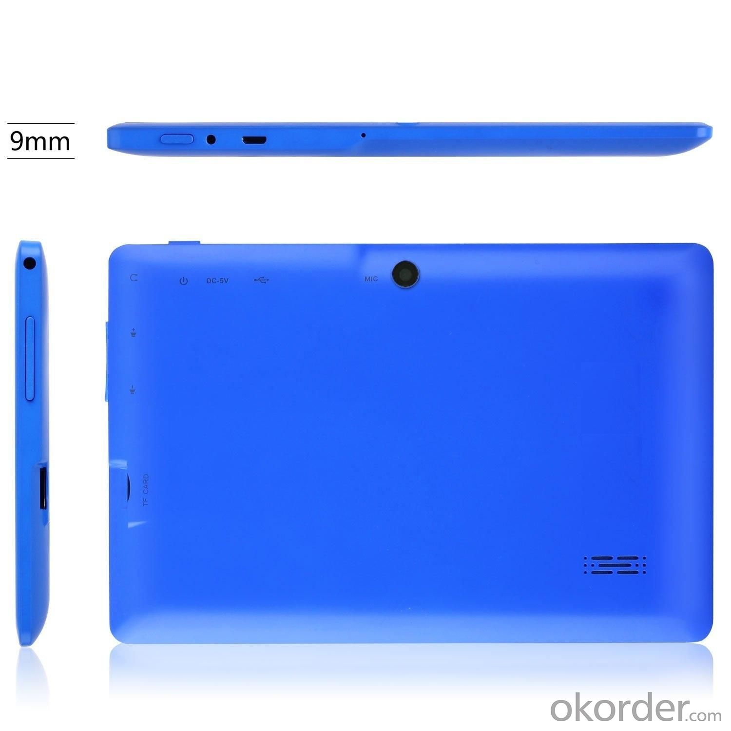 Dual Core ATM7021 1.3GHz 7 Inch Capacitive Touch Screen Android 4.2 Tablet PC With 4GB WiFi Dual Camera Blue