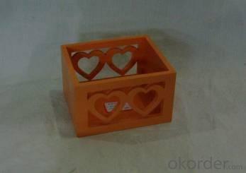Home Storage Willow Basket Painting Plywood Orange Box