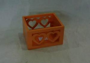 Home Storage Willow Basket Painting Plywood Orange Box