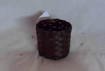 Home Storage Willow Basket Soft Woven Flat Paper Dark Color Oval Box