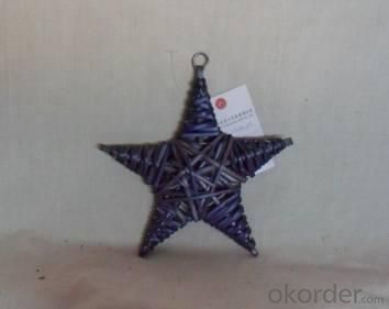 Home Decor Hot Selling Stained Willow-Woven Star Deco