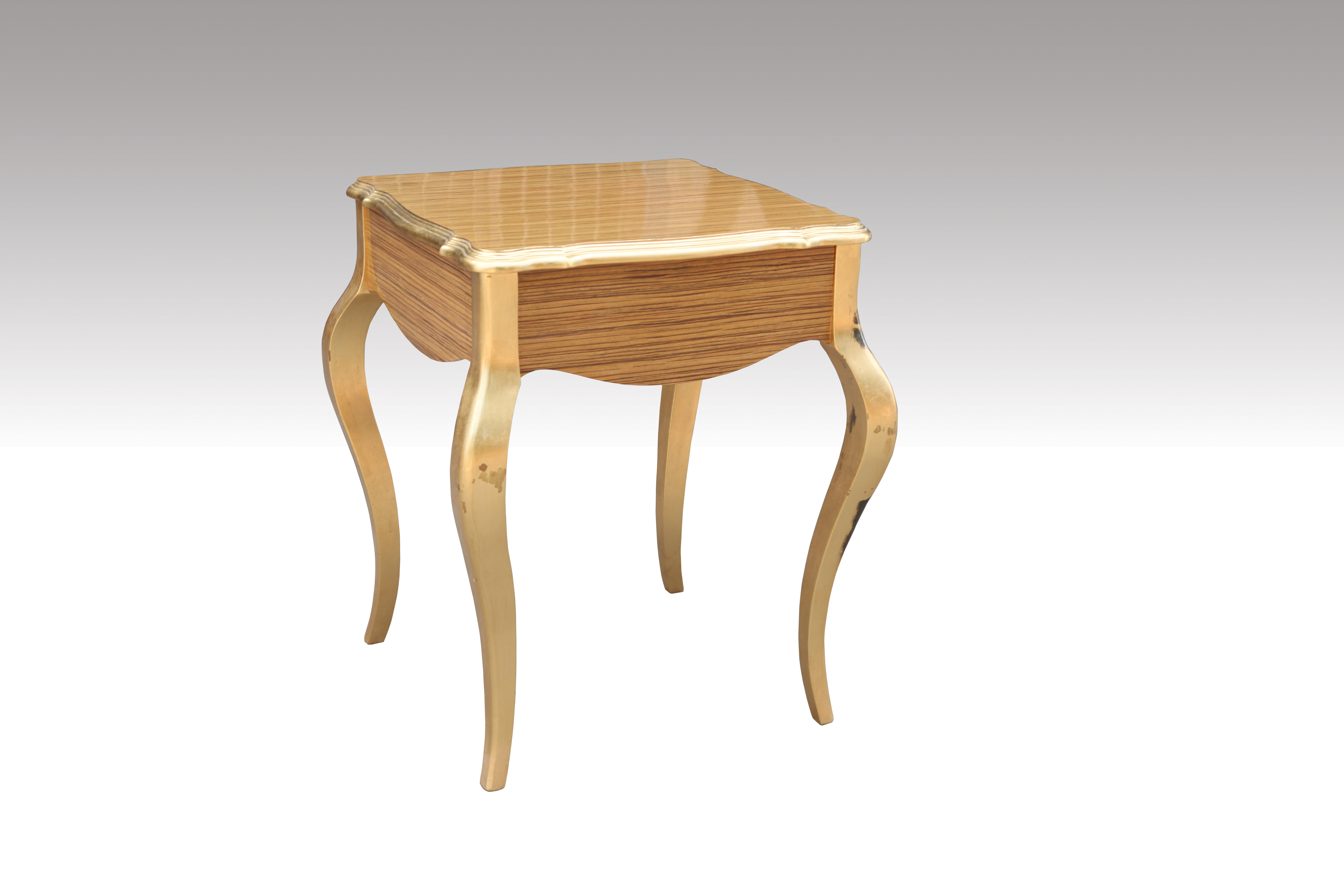 Home Furniture Classical Table Gold PU High Gloss  MDF And Birch Solid