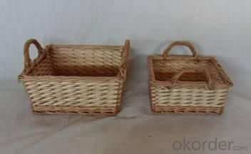 Home Storage Willow Basket Natural Willow Baskets S/2