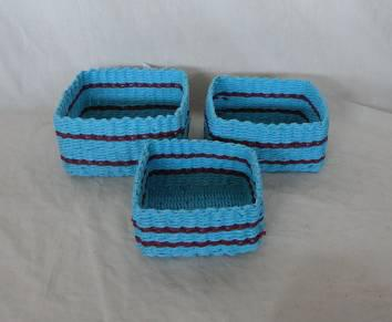 Home Storage Hot Sell Soft Woven  Paper Rope Box S/3