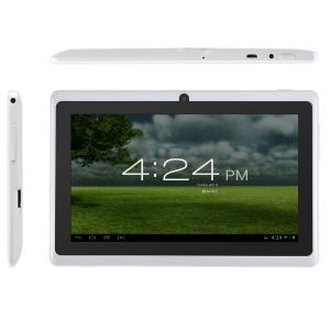 Capacitive Touch Screen 7 Inch Android 4.2 Tablet PC With Dual Core ATM7021 1.3GHz 4GB WiFi Dual Camera White