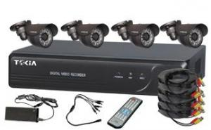 4CH Home Security System DVR KITS with 4pcs Weatherproof cameras S-8