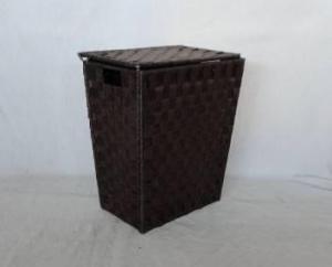 Home Storage Willow Basket Foldable Flat Paper Woven Metal Tube Hamper
