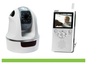 Pan Tilt Wireless Digital Baby Monitor 2.4Inch LCD Screen 8229JE