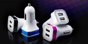 AC/DC Adapters 5V 2A Colorful Car Charger CE GS Certificate