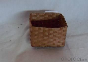 Home Storage Willow Basket Soft Woven Flat Paper Brown Box