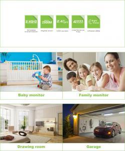 Pan Tilt Wireless Digital Baby Monitor 2.4Inch LCD Screen 8229JE