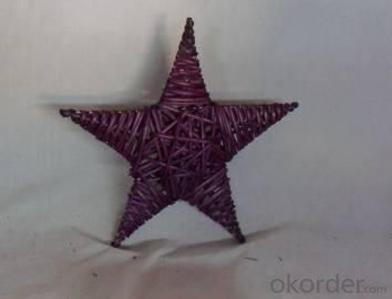 Home Decor Hot Selling Stained Purple Willow-Woven Star Deco