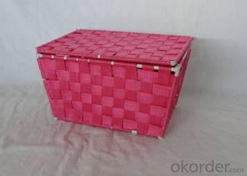 Home Storage Willow Basket Foldable Nylon Woven Metal Tube Basket