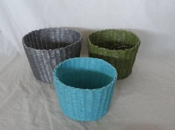 Home Storage Willow Basket Soft Woven Pp Box S/3