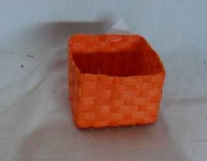 Home Storage Willow Basket Soft Woven Flat Paper Orange Box