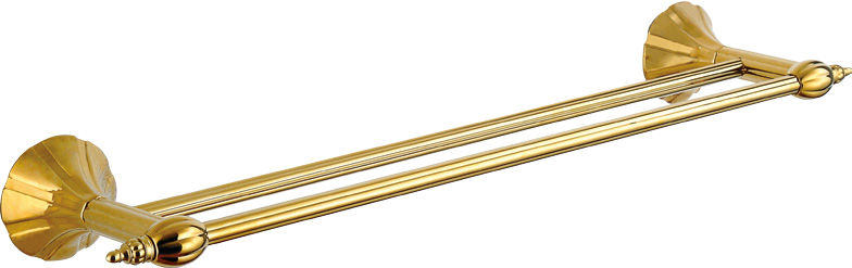 Hardware House Bathroom Accessories Rome Series Titanium Gold Double Towel Bar