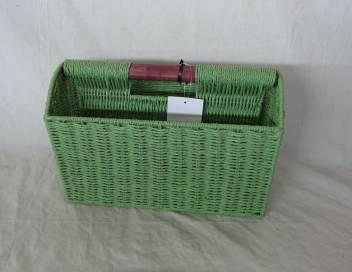 Home Storage Hot Sell Twisted Paper Woven Over Metal Frame Basket