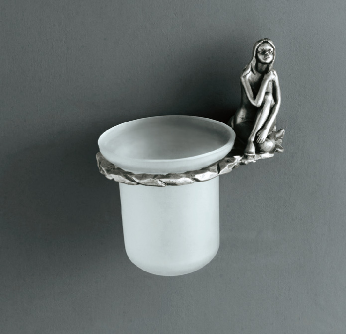 Artistic Bath Accessories Can Be Collection Silver Toilet Brush Holder